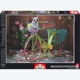 Jigsaw puzzle 500 pcs - Dog riding Bike (by Educa)