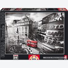 Jigsaw puzzle 1000 pcs - Piccadilly Circus - Black and White (by Educa)