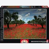 Jigsaw puzzle 1000 pcs - Poppy Field - Genuine (by Educa)