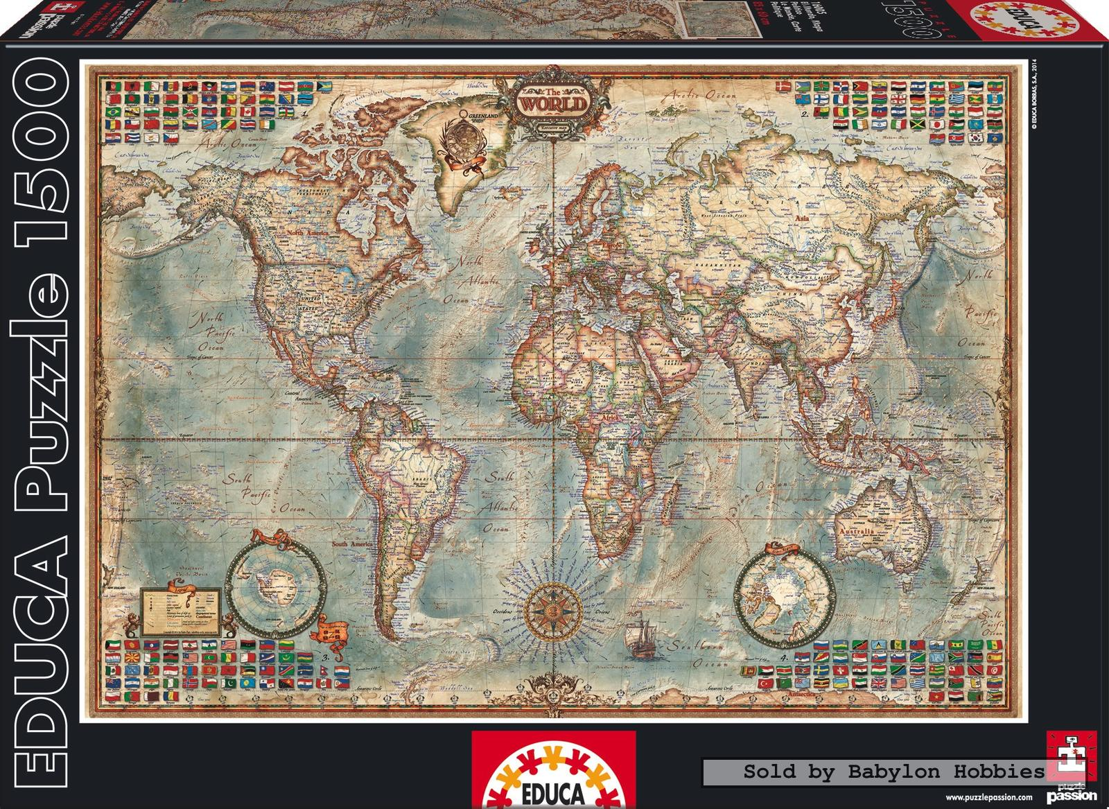 1500 pcs political map of the world by educa babylon hobbies 1500 pcs political map of the world by educa babylon hobbies puzzles gumiabroncs Images