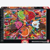Jigsaw puzzle 500 pcs - Sweets - Genuine (by Educa)