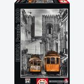 Jigsaw puzzle 1500 pcs - The Alfama District, Lisbon - Black and White (by Educa)