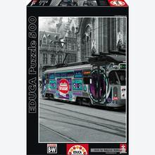 Jigsaw puzzle 500 pcs - Ghent's Tram - Black and White (by Educa)