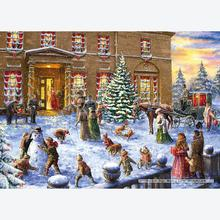 Jigsaw puzzle 500 pcs - Christmas at the Hall - Marcello Corti (by Gibsons)