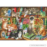Jigsaw puzzle 1000 pcs - Judith Yates - Puss in Books (by Gibsons)