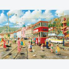 Jigsaw puzzle 1000 pcs - Taking the Tram - Derek Roberts (by Gibsons)