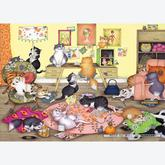 1000 pcs - Swinging Sixties Cats - Linda Jane Smith (by Gibsons)