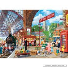 Jigsaw puzzle 1000 pcs - Awaiting Departure - Derek Roberts (by Gibsons)