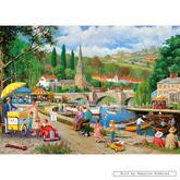 Jigsaw puzzle 1000 pcs - Riverside Walk - Derek Roberts (by Gibsons)
