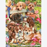 750 pcs - Garden Pups - Jenny Newland (by Masterpieces)