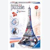 Jigsaw puzzle 216 pcs - Eiffeltoren Flag - Puzzle 3D (by Ravensburger)