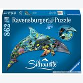 862 pcs - World of Dolphins - Silhouette (by Ravensburger)