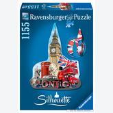 1155 pcs - Big Ben London - Silhouette (by Ravensburger)