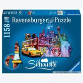 1158 pcs - Skyline New York - Silhouette (by Ravensburger)