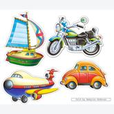 4 pcs - Transport Vehicles - Baby (by Castorland)