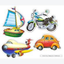 Jigsaw puzzle 4 pcs - Transport Vehicles - Baby (by Castorland)