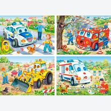 Jigsaw puzzle 8 pcs - Funny Vehicles - Progressive (by Castorland)