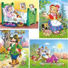 Jigsaw puzzle 8 pcs - Little Red Riding Hood - Progressive (by Castorland)