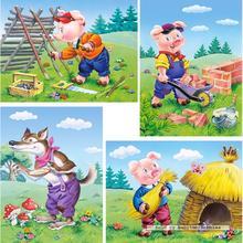 Jigsaw puzzle 8 pcs - Three Little Pigs - Progressive (by Castorland)