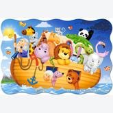 20 pcs - Noah's arc - Floor puzzles (by Castorland)