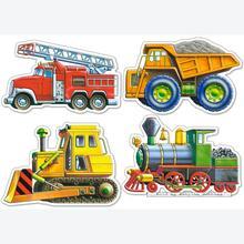 Jigsaw puzzle 4 pcs - Vehicles - Progressive (by Castorland)