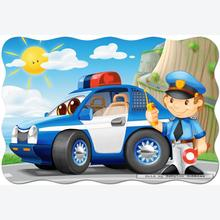 Jigsaw puzzle 20 pcs - Police Patrol - Floor puzzles (by Castorland)