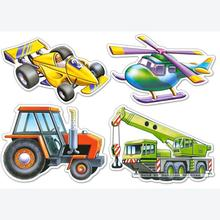 Jigsaw puzzle 4 pcs - Different Vehicles - Progressive (by Castorland)