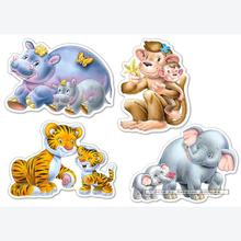 Jigsaw puzzle 4 pcs - Jungle Babies - Progressive (by Castorland)