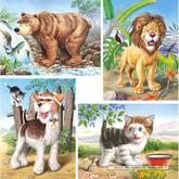 Jigsaw puzzle 8 pcs - Animals - Progressive (by Castorland)
