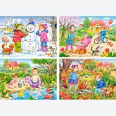 Jigsaw puzzle 30 pcs - Four Seasons - Progressive (by Castorland)