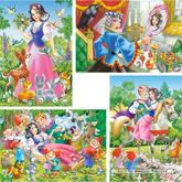 8 pcs - Snow White and the Seven Dwarfs - Progressive (by Castorland)