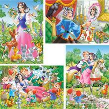 Jigsaw puzzle 8 pcs - Snow White and the Seven Dwarfs - Progressive (by Castorland)