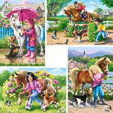 Jigsaw puzzle 30 pcs - Fun with Horses - Progressive (by Castorland)