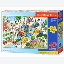 Jigsaw puzzle 40 pcs - Road Collision - Extra Large Pieces (by Castorland)