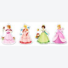 Jigsaw puzzle 4 pcs - Pretty Princesses - Progressive (by Castorland)