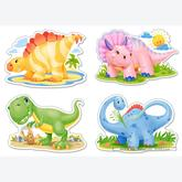 Jigsaw puzzle 4 pcs - Baby Dinosaurs - Progressive (by Castorland)