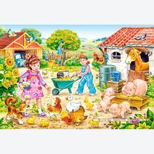 Jigsaw puzzle 40 pcs - Farm - Extra Large Pieces (by Castorland)