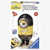 Jigsaw puzzle 54 pcs - Minions Pirate Matie - Puzzle 3D (by Ravensburger)