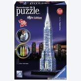 Jigsaw puzzle 216 pcs - Chrysler Building By Night - Puzzle 3D Night Edition (by Ravensburger)