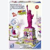 Jigsaw puzzle 108 pcs - Statue of liberty Pop Art - Puzzle 3D (by Ravensburger)