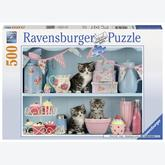 Jigsaw puzzle 500 pcs - Kittens and Cupcakes (by Ravensburger)