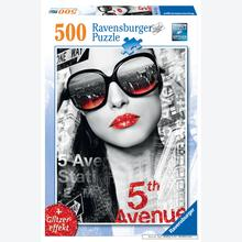 Jigsaw puzzle 500 pcs - glossy lips - Black and White (by Ravensburger)