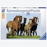 Jigsaw puzzle 500 pcs - Horses Hugging (by Ravensburger)