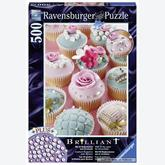500 pcs - Sparkling Cupcakes - Brilliant (by Ravensburger)