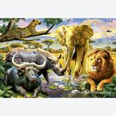 Jigsaw puzzle 1000 pcs - The Big Five - Genuine (by Educa)