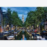 Jigsaw puzzle 1500 pcs - Amsterdam Canal At Dusk (by Educa)