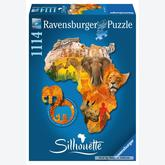 1114 pcs - Africa - Silhouette (by Ravensburger)