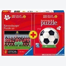 Jigsaw puzzle 100 pcs - Belgian Red Devils - Puzzle 3D (by Ravensburger)