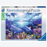 Jigsaw puzzle 1500 pcs - Dolphin Day (by Ravensburger)