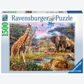 1500 pcs - Colorfull Africa (by Ravensburger)